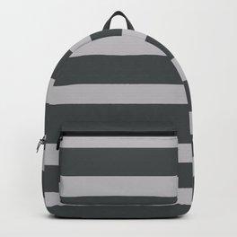 Silver Stripes on Black Background Backpack