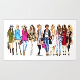 FASHION---GIRL Art Print