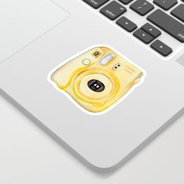 Yellow Camera 100 Days of Sunlight Sticker