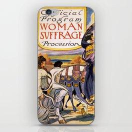 Women's March On Washington, Votes For Women, Women's Suffrage iPhone Skin