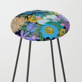 Dragonfly Floral Counter Stool