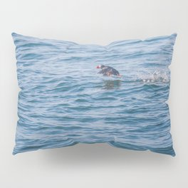 Cute Puffin takes off from the water Pillow Sham