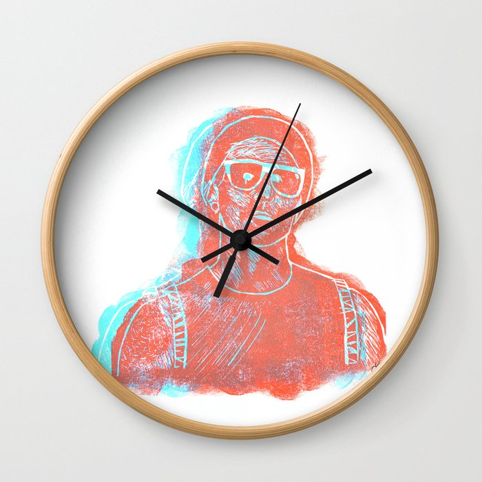 3D Josh (Ride) Wall Clock