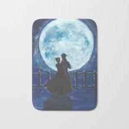 Pirate and Princess Dancing in the Moonlight Bath Mat
