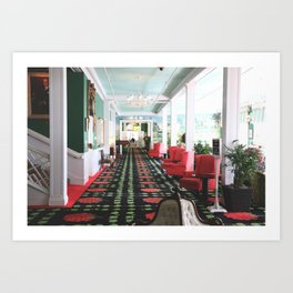 inside the Grand Hotel Art Print