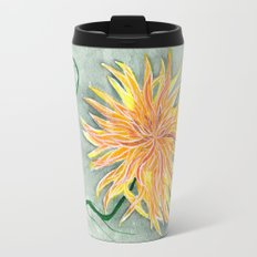 yellow dahlia Travel Mug