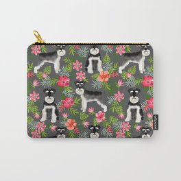 Schnauzer hawaii pattern floral hibiscus floral flower pattern palm leaves Carry-All Pouch