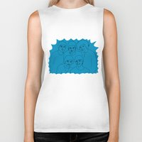 1d Biker Tanks featuring 1D by Rebecca Bear