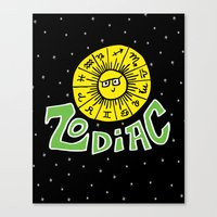 zodiac Canvas Prints featuring Zodiac by Elizabeth Evans