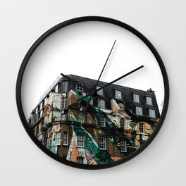 Graffiti on Building in London Wall Clock