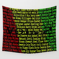 reggae Wall Tapestries featuring Reggae Artist - Roll Call Vol. 2 by The Peanut Line