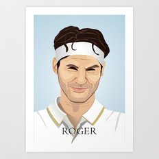 Roger Federer, the tennis superstar Art Print