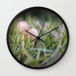 Fragile fungi Wall Clock