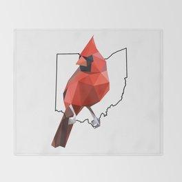 Ohio – Northern Cardinal Throw Blanket