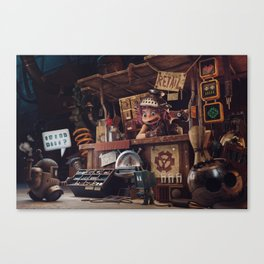 The Junk Shop Canvas Print