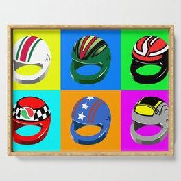 Pop-art Helmets - Variation #2 Serving Tray