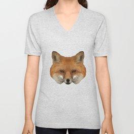 Geometrical Red Fox Unisex V-Neck