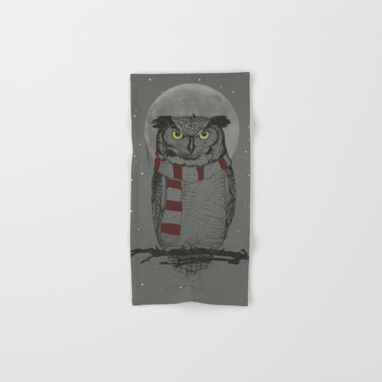 Winter owl Hand & Bath Towel