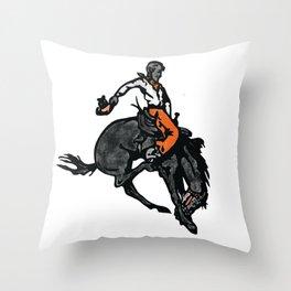 OSU Bronc Rider Throw Pillow