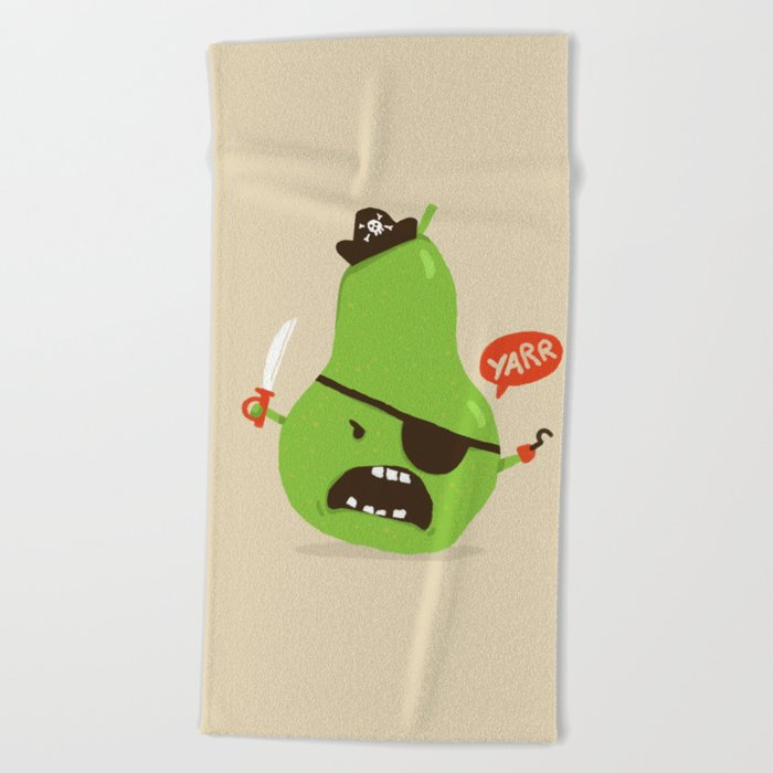 Pear-ate a.k.a The Angry Pirate Beach Towel