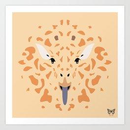 Giraffe Tongues Out Art Print