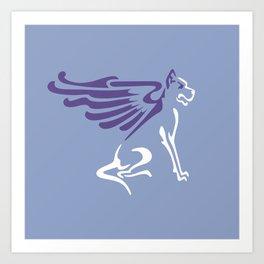 Myths & Monsters: Winged dog Art Print
