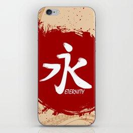 Japanese kanji - Eternity iPhone Skin