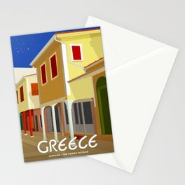 Lefkada (GR), The town's bazaar Stationery Cards