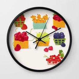 Fruits Market Wall Clock