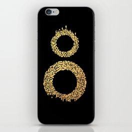 Two Worlds Calligram iPhone Skin