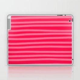 Fuchsia Brush Stroke Stripes Laptop & iPad Skin