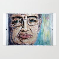 stephen king Area & Throw Rugs featuring Stephen Hawking by Michael Cu Fua