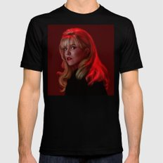 Laura Palmer from Twin Peaks Black MEDIUM Mens Fitted Tee