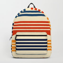 Kenshin - Classic Old School Retro Stripes Backpack