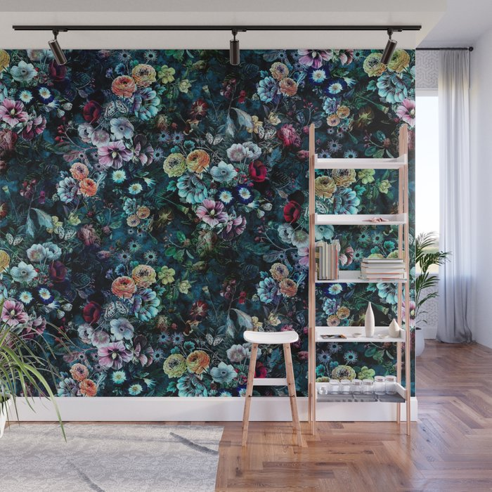 Night Garden Wall Mural by rizapeker Society6