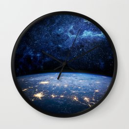 Earth and Galaxy Wall Clock