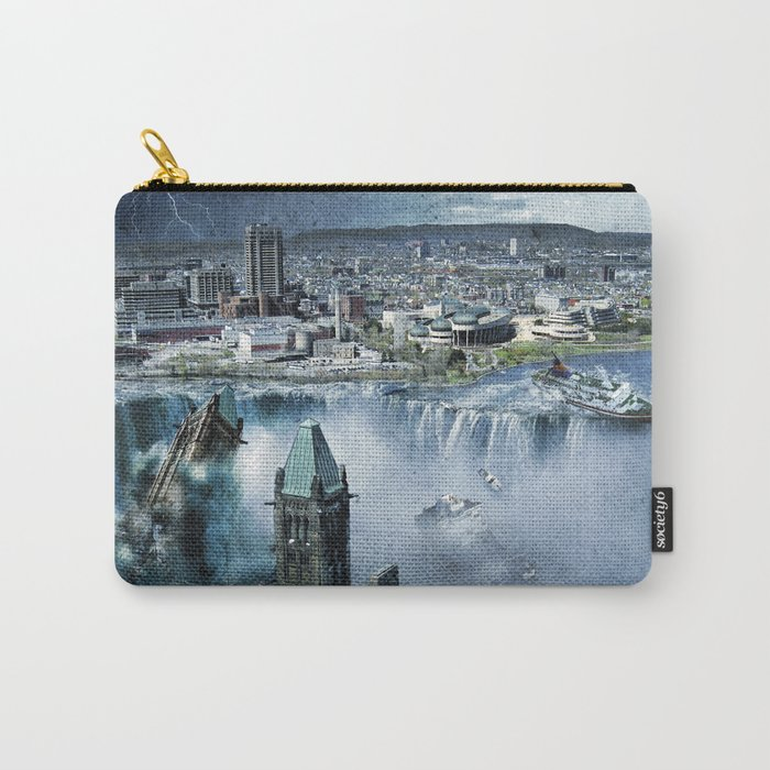 Earth Falls Away Carry-All Pouch