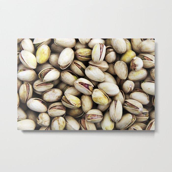 Pistachio nut pattern Metal Print