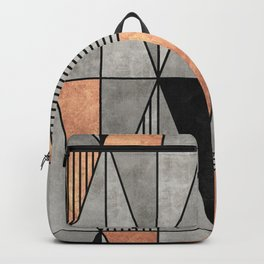 Concrete and Copper Triangles Backpack