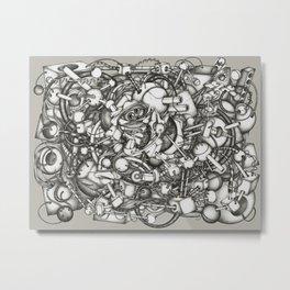 128h44m Metal Print