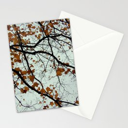 meticulous maple veins Stationery Cards