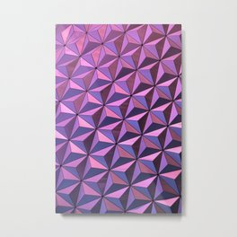 GEOMETRICITY BLUE Metal Print