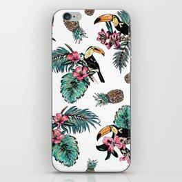 Tucan Tropical Pattern iPhone Skin