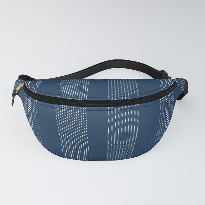 Navy Dotted Shibori Blue Indigo and White Dots Fanny Pack