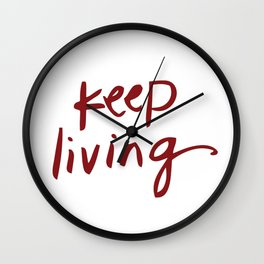 Vicscribs Keep Living Wall Clock