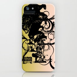 Golden Locks visits with the Bear Family iPhone Case