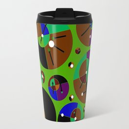 Bubble green black Travel Mug
