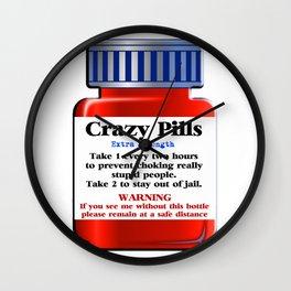 Crazy Pills Wall Clock