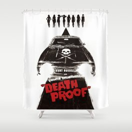 Death Proof Movie Poster Written And Directed By Quentin Tarantino Spanish Version Artwork, Posters, Shower Curtain
