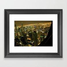 Chicago City Lights  Framed Art Print